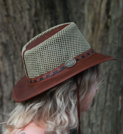965ef0696fb Full Grain Leather   Mesh Hat - Selke NZ high quality handcrafted ...