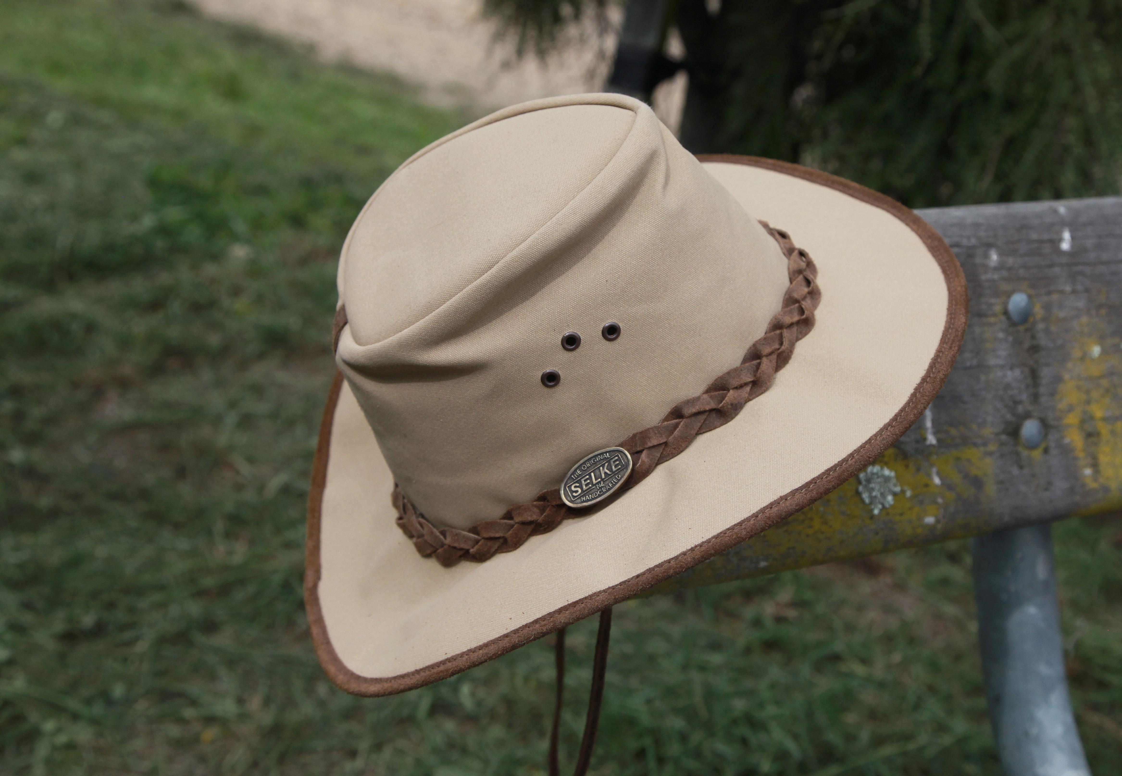 eba5e3bae02 Canvas Hat - Selke NZ high quality handcrafted leather   fabric hats