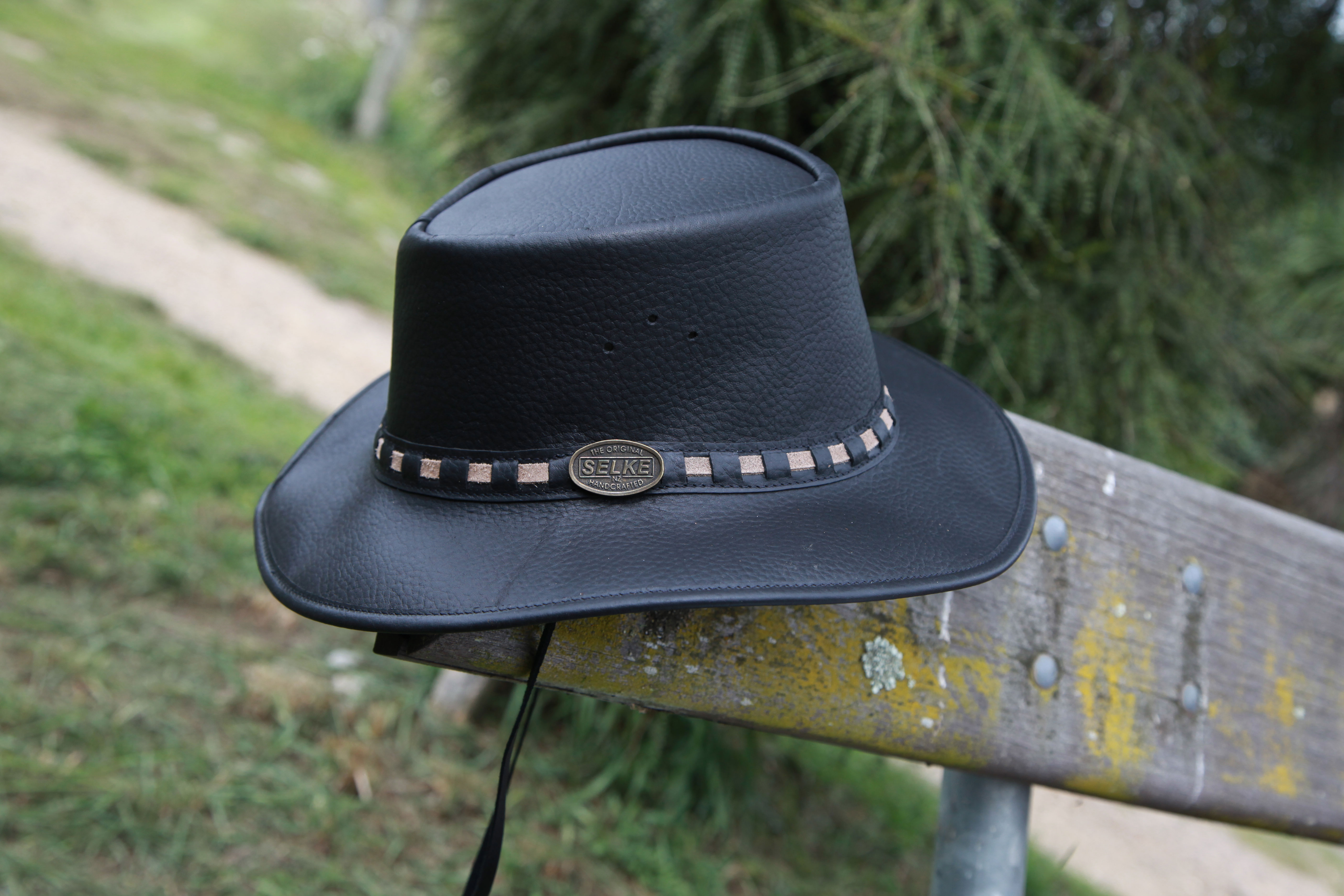 ba441396 Full Grain Leather Hat with Band - Selke NZ high quality handcrafted ...
