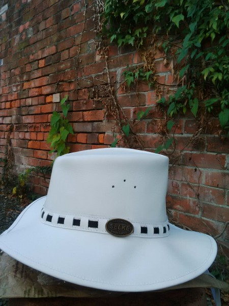 61745e63e07 Elite White Leather Hat - Selke NZ high quality handcrafted leather ...